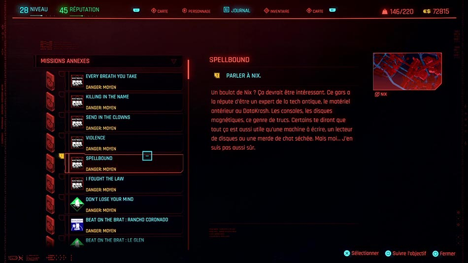 Soluce de la mission Spellbound de Cyberpunk 2077