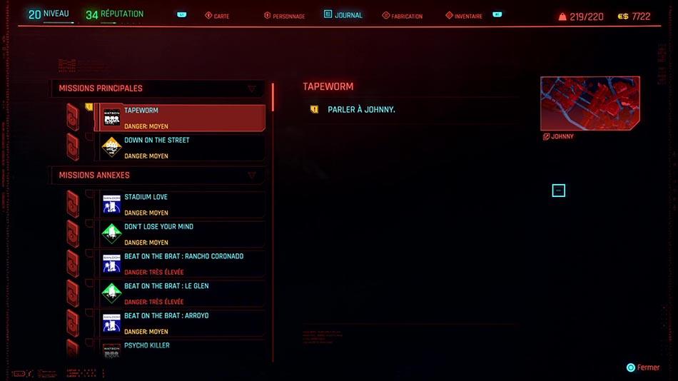 Soluce de la mission Tapeworm 3 de Cyberpunk 2077