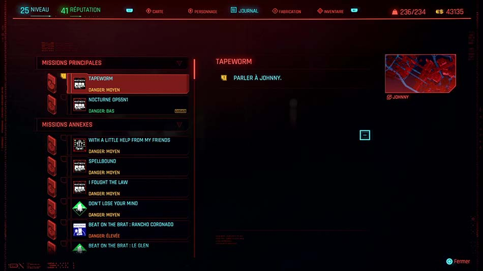 Soluce de la mission Tapeworm - 4 de Cyberpunk