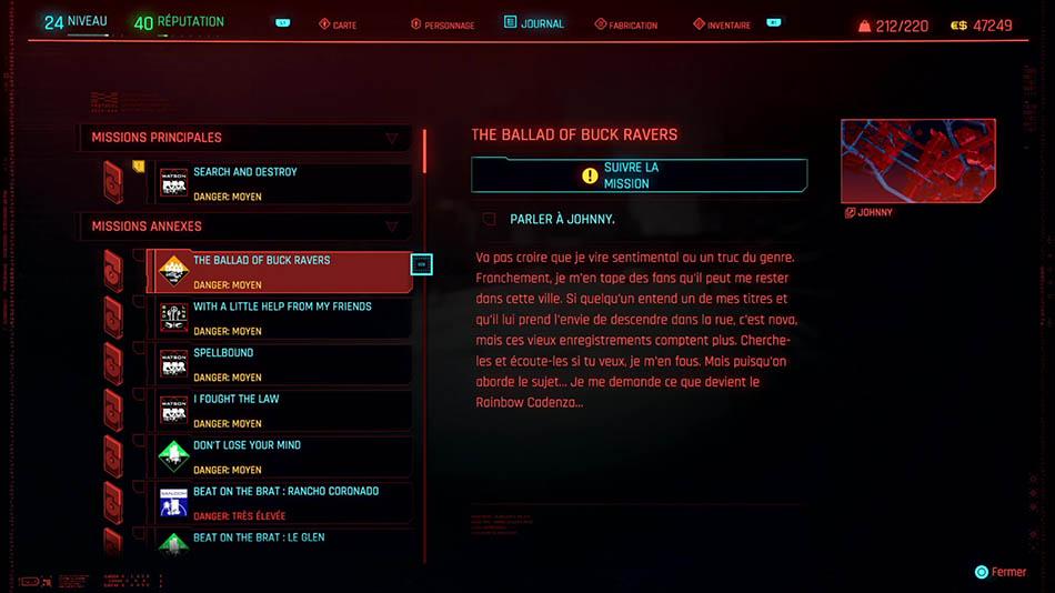 Soluce de The Ballad of Buck Ravers de Cyberpunk 2077