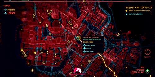 Carte de la course du centre-ville