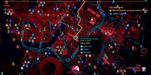 Carte du garage de Claire