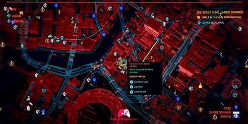 Carte de la course de Santo Domingo