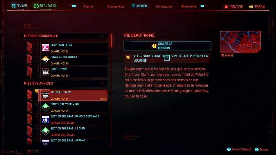 Soluce de la mission The Beast in Me de Cyberpunk 2077