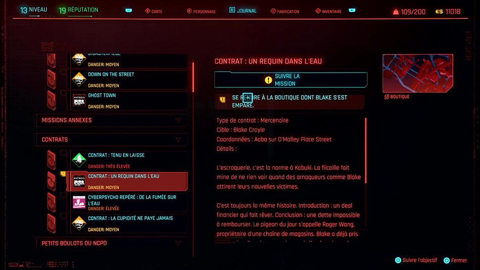 Soluce de la mission Un requin dans l'eau de Cyberpunk 2077