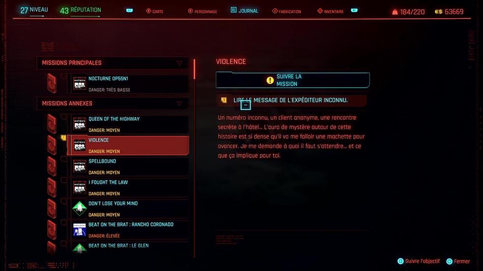 Soluce de la mission Violence de Cyberpunk 2077
