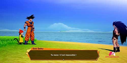 Raditz contre Goku