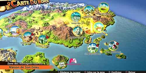 Carte de la maison de Son Goku