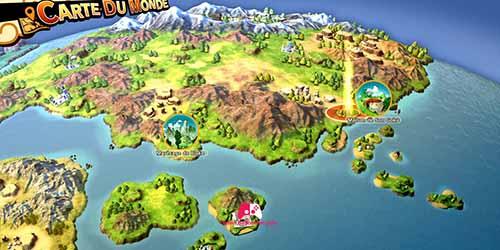Carte de la nouvelle zone des montagnes sud-est