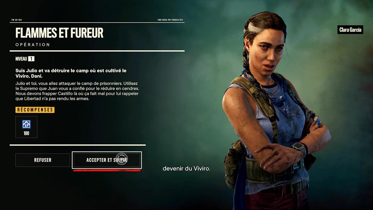 Soluce de la mission Flammes et fureur de Far Cry 6