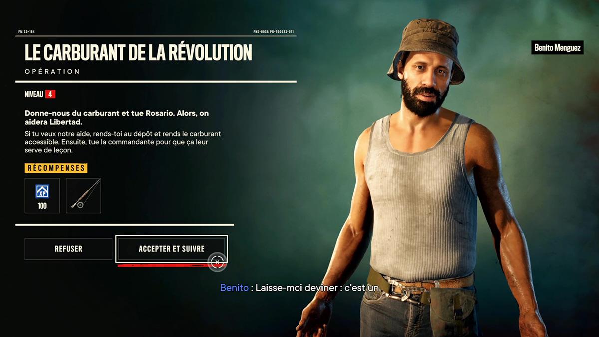 Soluce de l'opération Le carburant de la révolution de Far Cry 6