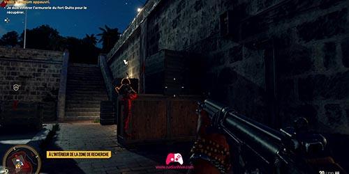 Soldat dans les escaliers