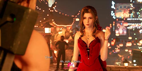 Arrivée de Aerith en robe