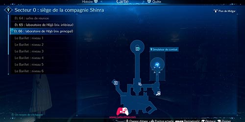 Carte du simulateur de combat du chapitre 17