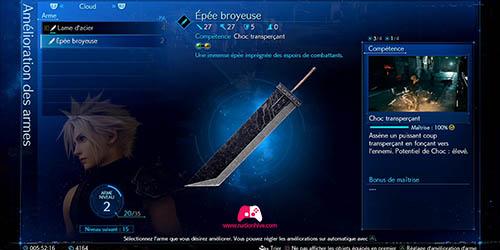 Compétence de l'arme Épée broyeuse