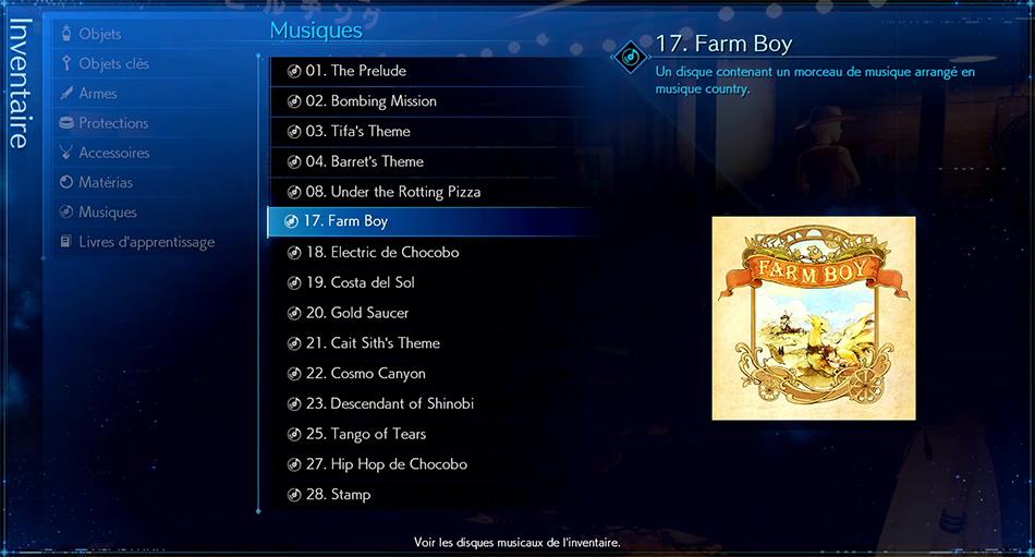 Disque musical - 17 Farm Boy