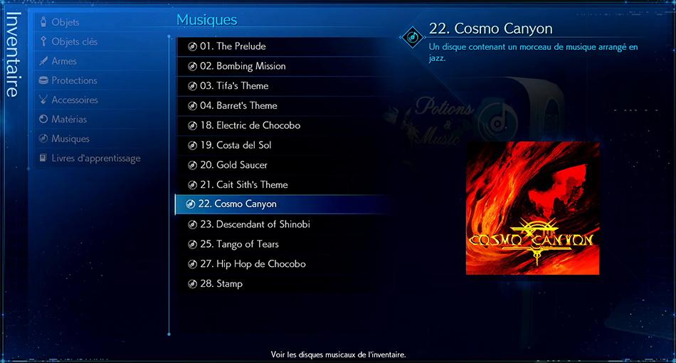 Disque musical - 22 Cosmo Canyon