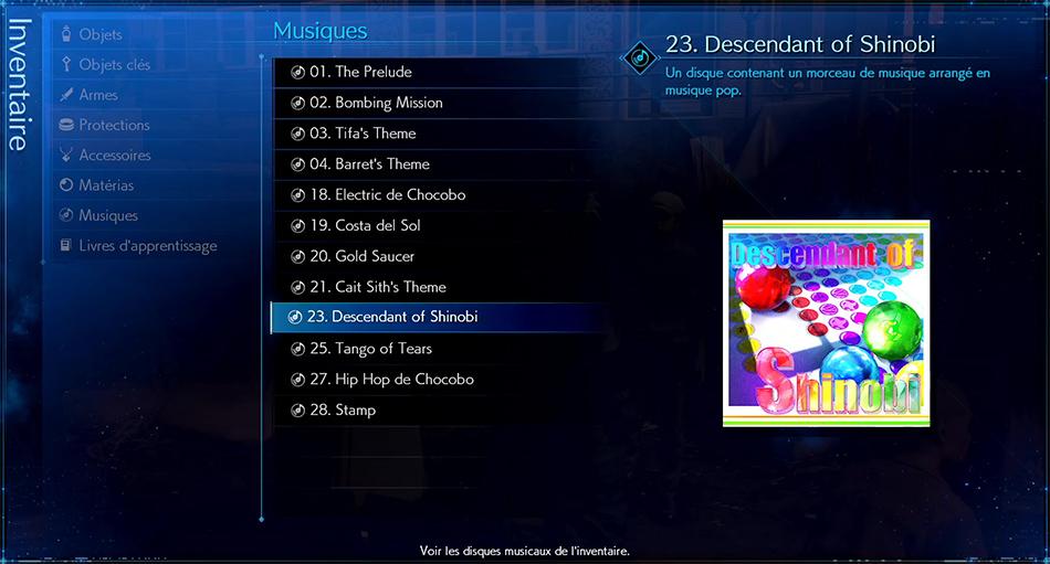 Disque musical - 23 Descendant of Shinobi