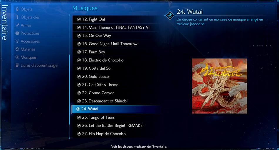 Disque musical - 24 Wutai