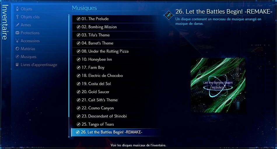 Disque musical - 26 Let the Battles Begin! - REMAKE