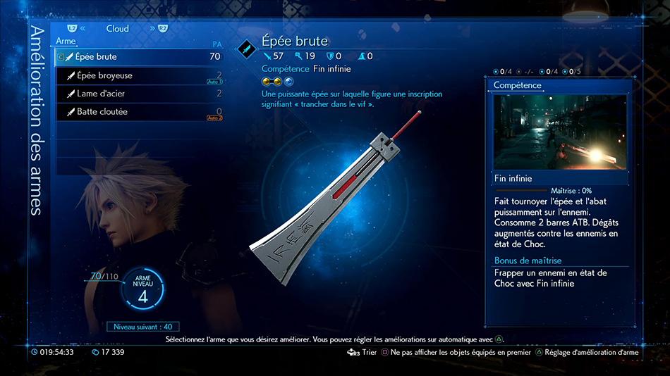 Épée brute
