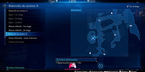 Carte de la mission secondaire
