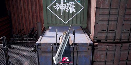 Pousser le container vert