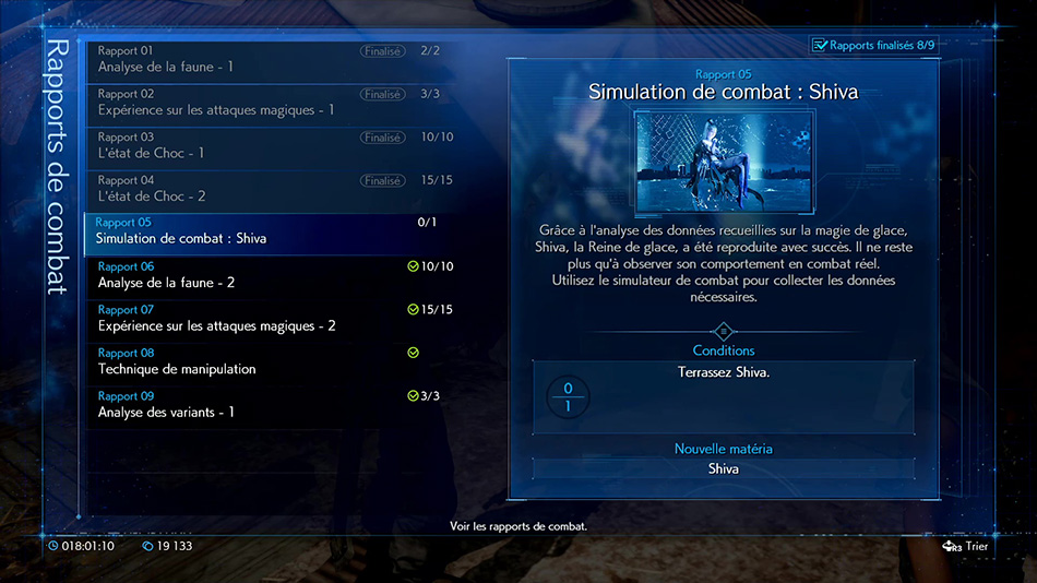 Rapport 05 : Simulation de combat - Shiva