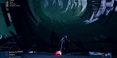 Avancez dans le tunnel