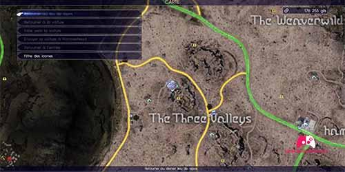 Carte du fragment de la cinquième pièce de l'énigme