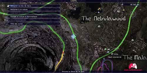Carte du fragment de la sixième pièce de l'énigme