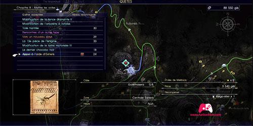 Carte du contrat de chasse Appel à l'aide d'Exineris