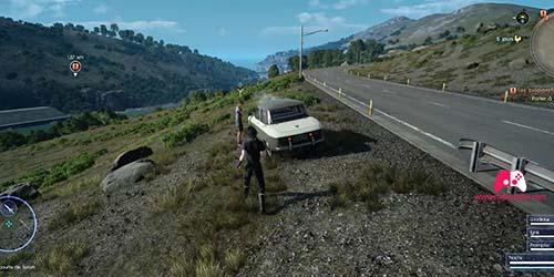 Emplacement de la voiture en panne