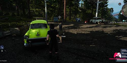 Emplacement de l'automobiliste