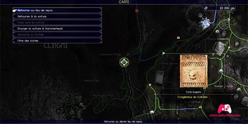Carte du contrat de chasse Congélateur de Callatein