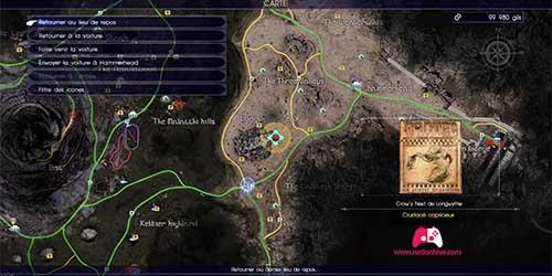 Carte du contrat de chasse Crustacé capricieux