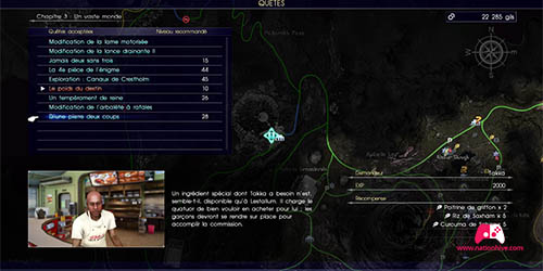 Carte de la quête de takka D'une pierre deux coups