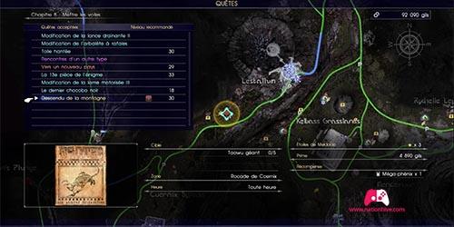 Carte du contrat de chasse Descendu de la montagne