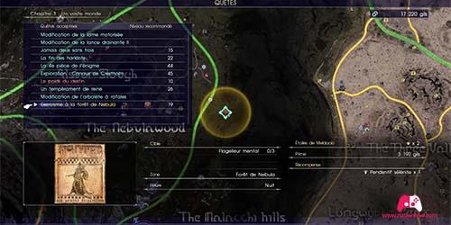 Carte du contrat de chasse Exorcisme à la forêt de Nebula