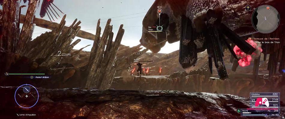 Combat avec le Titan