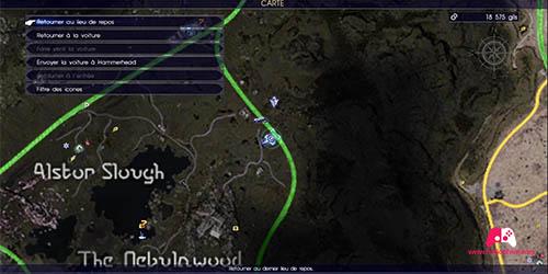 Carte de la quête secondaire Prise de tête routière