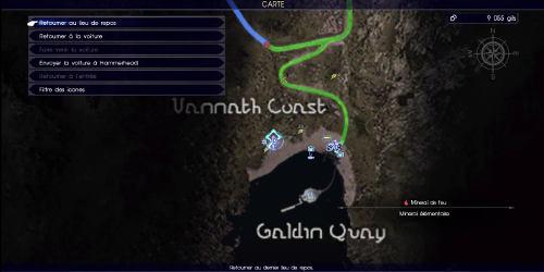 Carte de la course des sables