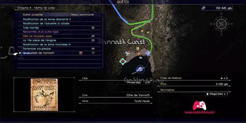 Carte du contrat de chasse Le gourmet de Vannath