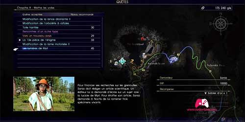 Carte du donjon de la forêt de Myrl