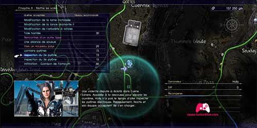 Carte du deuxième pylône
