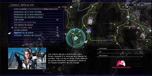Carte du troisième pylône