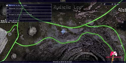 Carte de la quête secondaire Pauvre promeneur