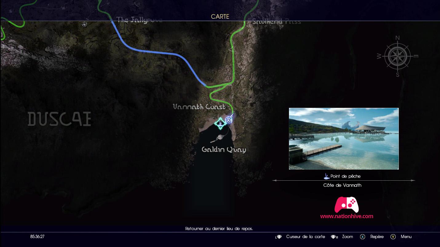 Point de pêche de la Côte de Vannath