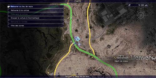 Carte de la quête secondaire Promeneuse en danger