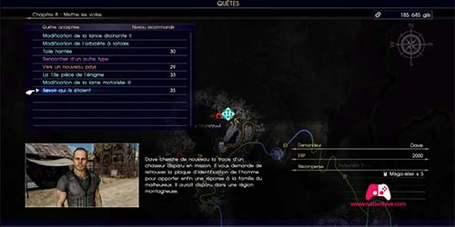 Carte de la quête Savoir qui ils étaient